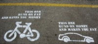 bike vs car stencil