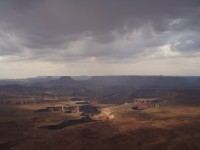 Canyonlands National Park - White Rim with Storm Clouds