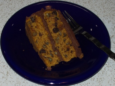 Chocolate-Pumpkin Layer Cake slice