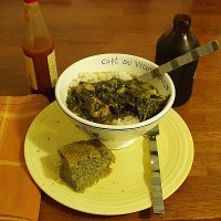 Gumbo z'Herbes with Rice