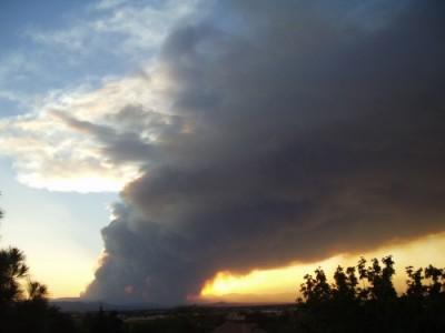Las Conchas Wildfire Smoke Plume