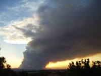 Las Conchas Wildfire Smoke Plume