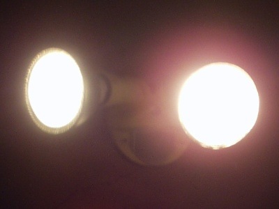 LED (left) & Halogen (right) floodlights