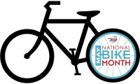 National Bike Month bicycle logo