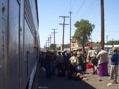 Southwest Chief - Unloading in Raton, NM