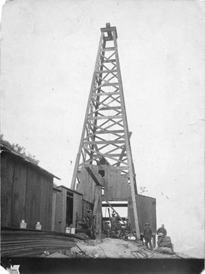 Timber Oil Derrick circa 1888