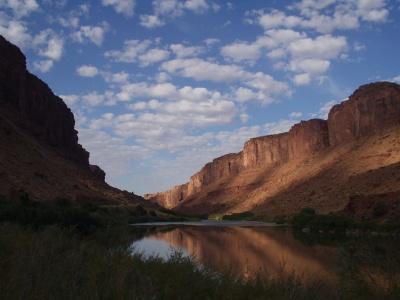 Colorado River - Sunrise at Drinks Canyon Campground near Moab, Utah