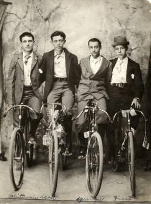 Four Dapper Cyclists