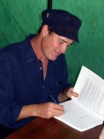Nate Downey signing 'Harvest the Rain'