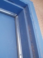 New Weatherstripping sealing an exterior door
