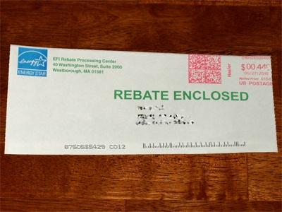 Energy Star Rebate Check