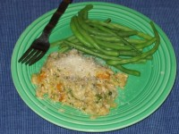 Roasted Squash Risotto and Green Beans