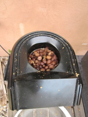 Roasting Coffee - mid roast