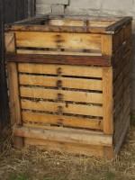 Wood Pallet Compost Bin